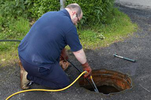 how to clear a main line blockage